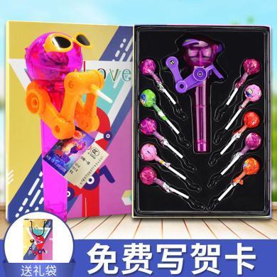 星空棒棒糖糖果礼盒抖音同款网红机器人儿童吃糖玩具糖