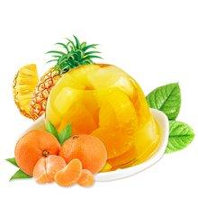小叮当果冻 菠萝葡萄橘子什锦多口味果肉布丁200g*3杯装 办公休闲儿时童年零食