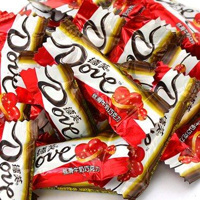 德芙 巧克力絲滑牛奶巧克力散裝500g 婚慶喜糖喜慶德芙巧克力節日家庭零食