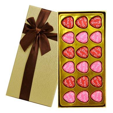 德芙巧克力禮盒裝 dove心語18粒 喜糖節日禮物心形巧克力送女友德芙巧克力禮盒