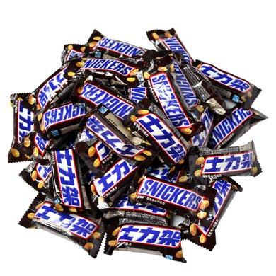 士力架巧克力花生夹心 散装500g 横扫饥饿年货礼物零食大能量棒