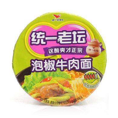LJ統一來一桶老壇泡椒牛肉面(105g )