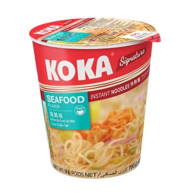 新加坡進口方便面 koka可口海鮮味快熟面 70g/杯 桶裝泡面 網紅進口零食品 泡面小食堂