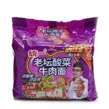 统一100老坛酸菜牛肉面五入 NC3(121g*5)