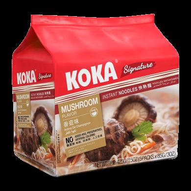 新加坡進口 KOKA方便面 即食面快熟面可口面 85g*5 五連包 袋裝 網紅進口 泡面小食堂 香菇素湯快熟面425g