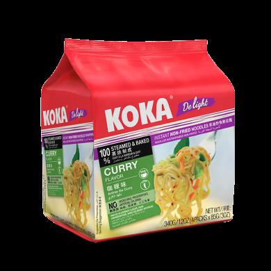 2袋裝*新加坡進口 KOKA方便面 即食面快熟面可口面 85g*5包/袋 網紅進口 泡面小食堂 咖喱湯味快熟面425g*2袋