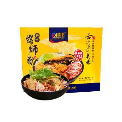 嘻螺会螺蛳粉320g*2袋 广西柳州特色小吃 袋内含卤蛋