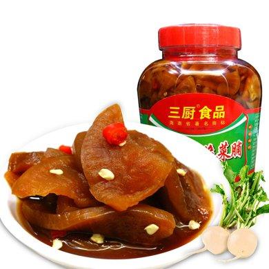 三廚 爽脆菜脯900g/瓶 海南蘿卜干 腌榨菜醬脆蘿卜 下飯菜