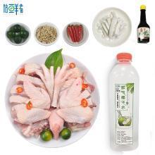 海南特產文昌雞椰子雞套餐新鮮椰子水火鍋材料雞湯