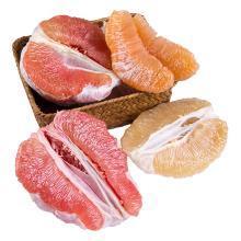 四色贡品 白心蜜柚/红心蜜柚/黄心蜜柚/福建三红柚各一个 4个约9斤
