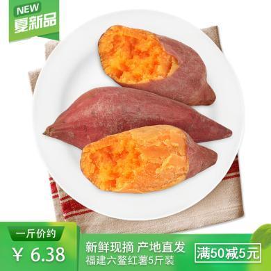 食王記 福建六鰲紅薯 蜜薯 地瓜5斤大瓜 紅蜜薯