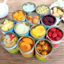 优尚水果罐头6罐混合整箱午后黄桃罐头橘子菠萝?#27493;?#26472;梅葡萄梨