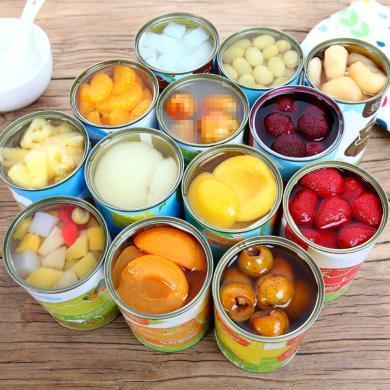 优尚水果罐头6罐混合整箱午后黄桃罐头橘子菠萝什锦杨梅葡萄梨