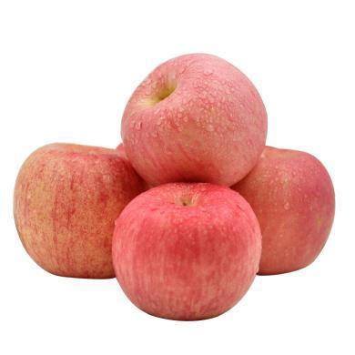 華樸上品 煙臺蘋果霜降蘋果紅富士 75-85mm8.5-9斤裝 新鮮蘋果