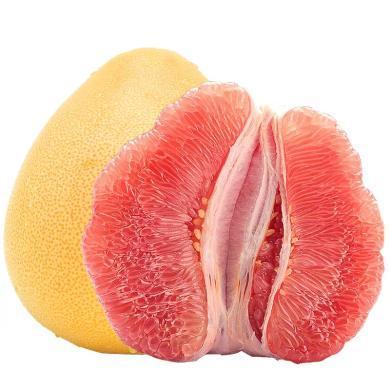 华朴上品 福建红心蜜柚子 4.8-5.2斤2个装 新鲜水果柚子红柚