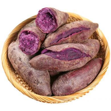華樸上品 山東沂蒙小紫薯地瓜5斤裝單瓜50g-150g新鮮紫薯