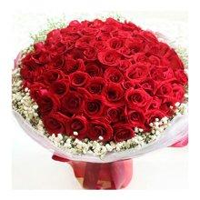 LOVE 99----99枝精品紅玫瑰花束