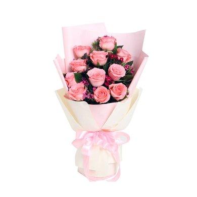 假日公主----戴安娜粉玫瑰11枝