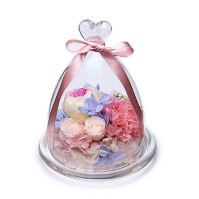 愛與祝福-紫心奧斯汀玫瑰1朵,進口粉色康乃馨1枝,淺粉桃色小玫瑰春節新年元宵節情人節送老婆愛人女朋友創意禮物生日禮物