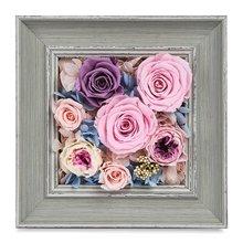 時光的花----進口粉色玫瑰2枝 ,進口紫色玫瑰1枝
