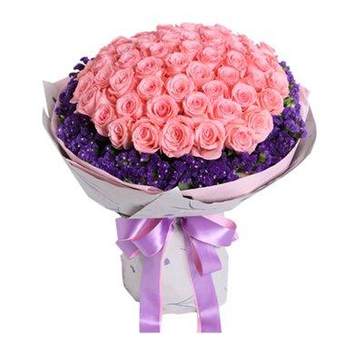 不变的心-戴安娜玫瑰66枝鲜花情人节送老婆爱人女朋友创意生日礼物女神节女生节38妇女节