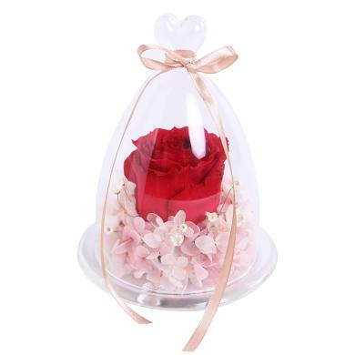一生一世-送女友愛人朋友閨蜜元旦/圣誕節包裝禮盒禮物創意永生花玫瑰禮盒禮物愛人女朋友周年紀念日生日禮物