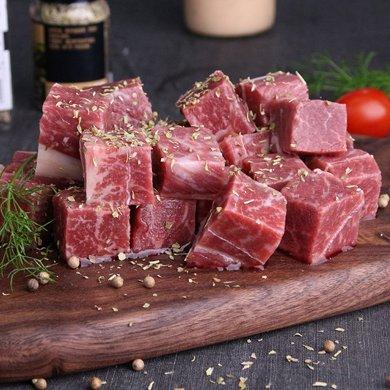 崇鮮原切進口牛腩粒300g/包*3包新鮮牛腩肉包郵