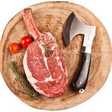 臻佳肴澳洲進口原切戰斧牛排新鮮套餐團購5份厚切牛扒1500g家用