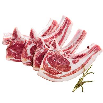 崇鮮新西蘭進口A級冷凍羔羊七骨羊排 150g/份草飼羊肉燒烤食材