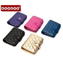 DOODOO 新款菱格小钱包皮夹短款羊皮钱包 D6965