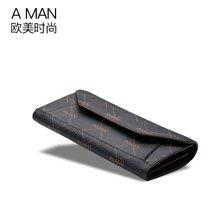 A man新款女士錢包長款兩折信封手拿皮夾錢夾多卡位歐美時尚潮  8064