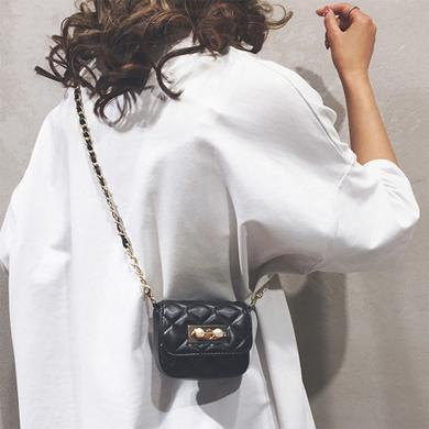 新款小香風百搭鏈條包精致小巧斜挎單肩包女包包N990