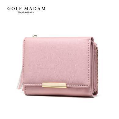 GOLF高尔夫女士短款钱包拉链零钱包韩版小手包折叠流苏女包潮新款 W822845