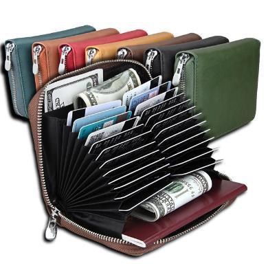 搭歌rfid風琴卡包男士護照包牛皮多功能女士卡套多卡位信用卡皮套MKB163