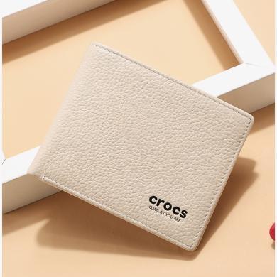 crocs錢包女短款折疊新款簡約女士錢包迷你清新小零錢包