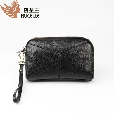 紐芝蘭 韓版真皮女式手拿包時尚牛皮手包零錢包手機包 19243