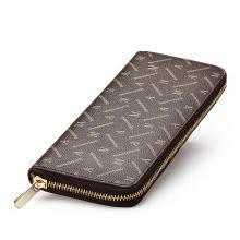 AMAN新款女士钱包长款拉链手机钱包女欧美时尚皮钱夹大钞夹大容量 80017