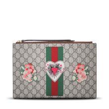 [支持购物卡] GUCCI/古驰 男女通用刺绣款拉链手拿包 431416