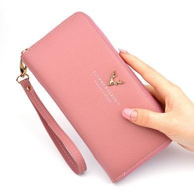 搭歌新款女士錢包長款拉鏈大容量手拿包時尚女式錢夾荔枝紋日韓手機包Y1003