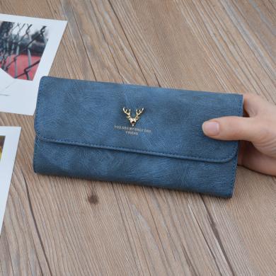 搭歌2019新款錢包女包蓋式女士錢夾長款軟面韓版大容量手拿包A585