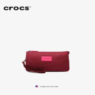 crocs2019休閑尼龍手拿包隨身包女款零錢包手拿包長款拉鏈包
