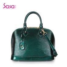 Sasa/萨萨 水波纹流行色漆皮贝壳包大款SA37-H0452