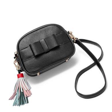 LANVERA朗薇 頭層牛皮流蘇歐美風格新款時尚百搭單肩斜挎女包小方包L2087