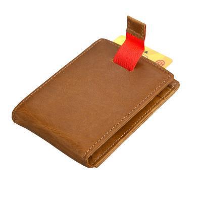 搭歌 新款新品美金夾男女士復古牛皮卡套復古錢包多功能卡包  9038#