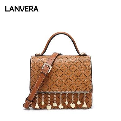 LANVERA朗薇 女包歐美時尚新款單肩斜挎手提包小方包L7191-1