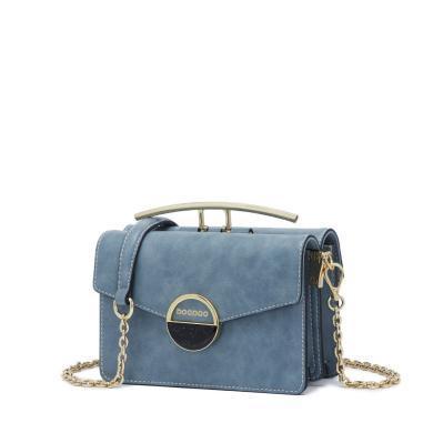 DOODOO 包包女新款潮韓版百搭斜挎包鏈條包時尚風琴包D8289