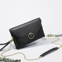 JIANXIU 新款時尚真皮信封包簡約百搭單肩手拿包鏈條包 W633