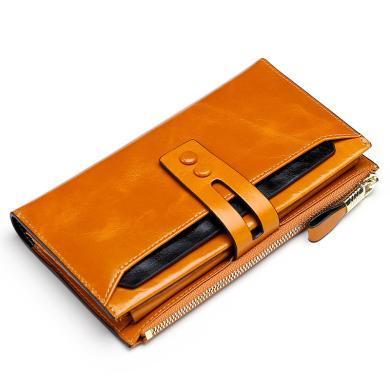 搭歌 RFID牛皮錢包新品時尚男女士長款錢夾手拿包  MA8239#