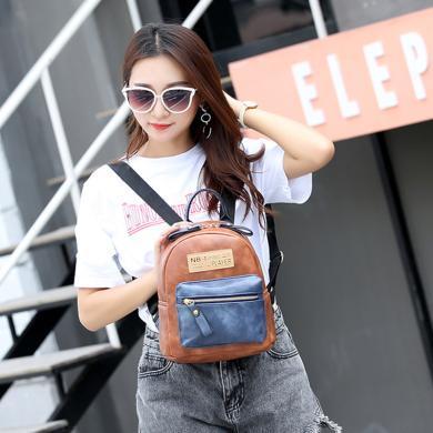 搭歌 女包2019新款韓版雙肩包拼接可愛背包短途旅行包  JYF51