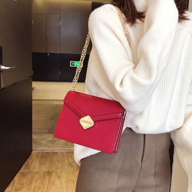 搭歌 小包包女2019新款韓版時尚鎖扣單肩小方包百搭鏈條斜挎包  D27168111